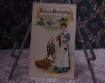 Vintage Thanksgiving sample postcard