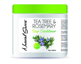 Tea Tree & Rosemary Deep Conditioner, natural hair, rosemary oil, 100% natural haircare, tea tree oil, deep conditioner,  hair conditioner
