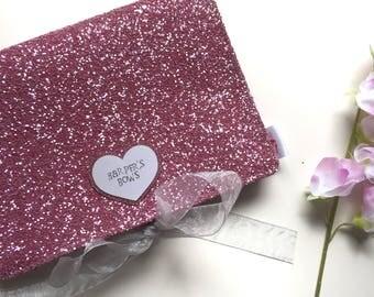 Bow Carry Case - Fuchsia Glitter