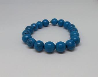 Turquoise Beaded Bracelet/ Beaded Bracelet/ Layering Bracelet/ Summer Bracelet/Birthday Gift
