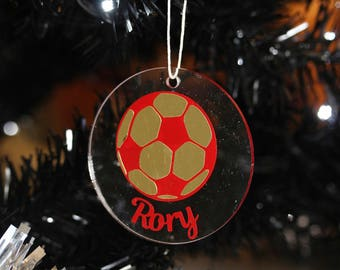 Personalised christmas decoration, football fan, football decoration