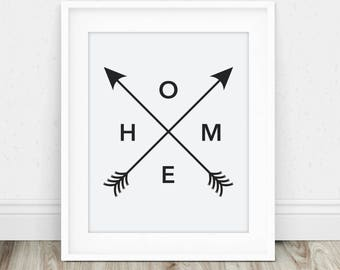 Home Art - Home Print, Art Print, Home Art Decor, Wall Art Print, Home Wall Art, Home Printable, Digital Art Print, Home Sign, New Home Gift