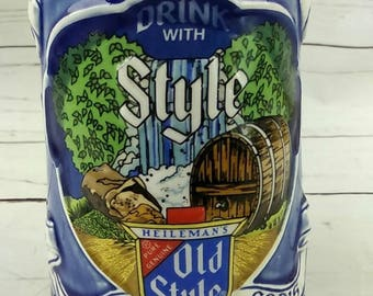 """1982 Heilemans Old Style Brewed In Gods Country Beer Stein Mug 14298 8"""" Tall"""