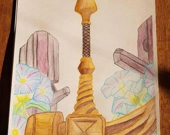 Seven Deadly Sins Anime Manga Diane's hammer Giddeon Fanart