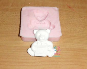 Cookie shaped teddy bear for chalks, communion, marriage, Christmas – Gift Idea