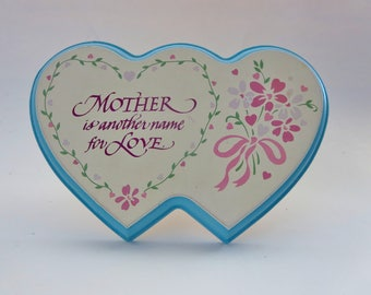 Vintage Heart Shaped Plaque - 'Mother Is Another Name For Love' Plaque - Made in Taiwan 1991