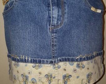Vintage REWIND Denim Jean mini Skirt size 9