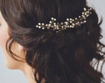 Wedding Hair Accessories, Wedding Pearl Hair Pin, Wedding Pearl Hair Comb, Hair Comb, Hair Accessories, Pearl Hair Accessory