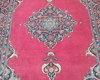Antique kashan - two 6.9 × 4.6 ft 205 × 136 cm persian rug, very good condition, very beautifull