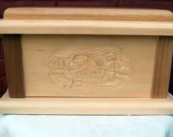 Solid wood urn