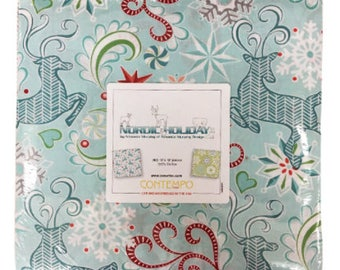 "Benartex - Nordic Holiday 10"" x 10"" Pack/Layer Cake by Amanda Murphy - 42, 10"" x 10"" Precut Fabric Squares"
