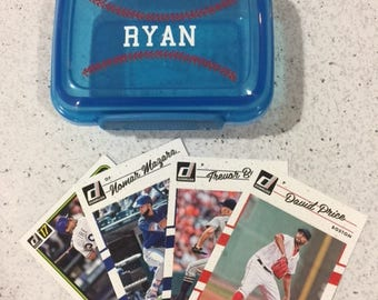 Personalized Baseball Card Holder, Sports Birthday, Party Favor, Kids Stocking Stuffer, Christmas, kids wedding
