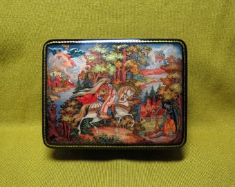 Russian lacquer box The Tale of Ruslan and Lyudmila