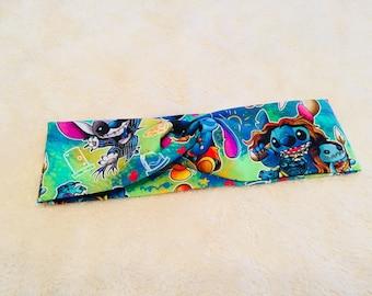 Disney Stitch headband, turban headband, workout gear, yoga headband, running headband