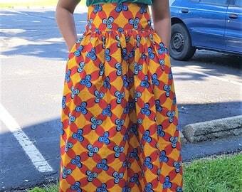Ankara high waist long skirt