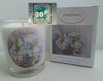Bougie parfumée au Lilas / Scented candle of  Lilac