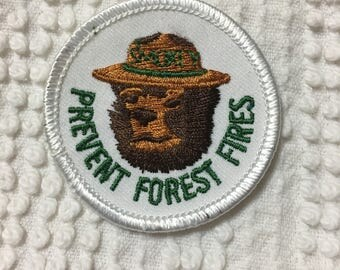 PREVENT Forest FIRES SMOKEY The Bear Patch Mint Patch L@@K