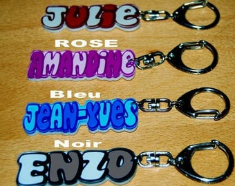 CARVED key chain personalized with name of your choice