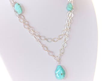 Turquoise Double Stranded Necklace | IYS Summer Collection
