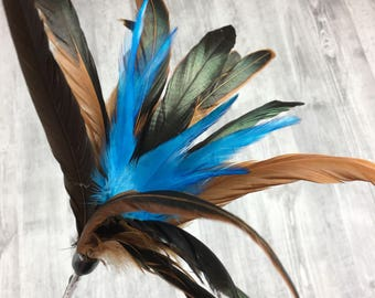 Cat toy | Mega feathers duster | Cat teaser toy | Interactive cat toy |  Feather cat toy |  Natural rooster feathers