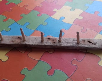 Driftwood peg coat hook