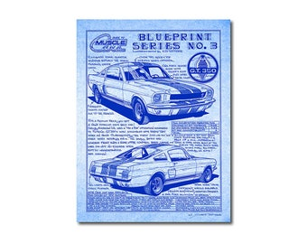 Mustang blueprint etsy 1966 shelby mustang diazo blueprint look art printcaroll shelbyford mustang 66 car malvernweather Image collections