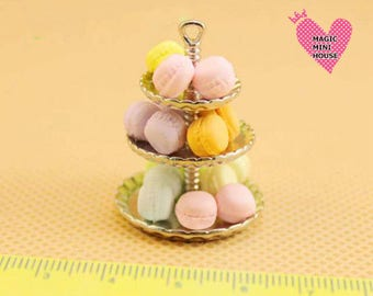 Dolls House Miniature Macarrons- 15pcs/pack