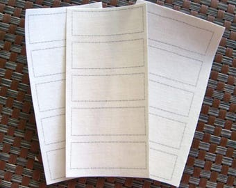 Blank Iron On Cotton School Name Labels - None Scratch