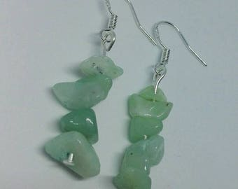 Turquoise Amazonite earrings, dangle earrings with genuine amazonite in turquoise. Sterling silver 925