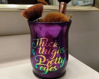 Glitter Makeup Cup