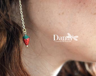 Dangling with lobo Amor Strawberry