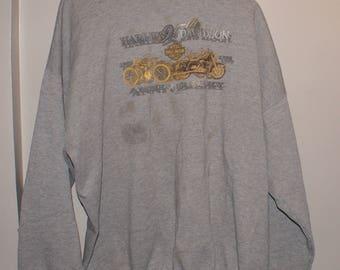 Vintage VTG Harley Davidson Gray Sweater