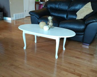 Lightly distressed oval table