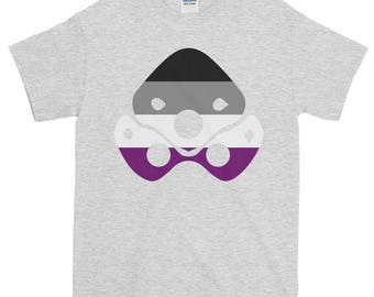Widowmaker Ace Pride Unisex Short-Sleeve T-Shirt, Overwatch, lgbt, lgbtq, lgbtqipa, queer, queer pride, transgender, asexual