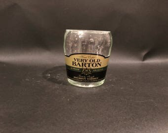 HANDCRAFTED Up-Cycled 750ML sazarac Very Old Barton Bourbon Whiskey BOTTLE Soy Candle Made To Order !!
