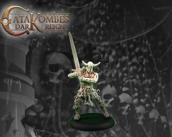 "Figurine héros barbare : ""Torgils sombre loup"" great sword"