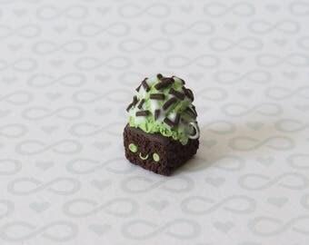 Kawaii Brownie With Ice Cream Charm