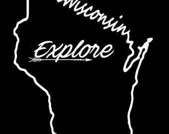 Wisconsin Decal Etsy - Custom vinyl decals madison wi