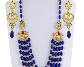 Lovely high quality dark beaded necklace set