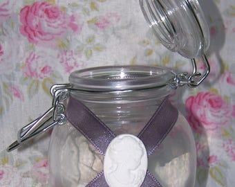 Mini jar with fragrant decorations