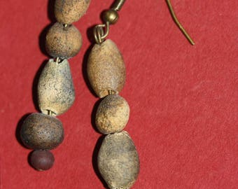 earrings ,clay d'egypte handmade individuel