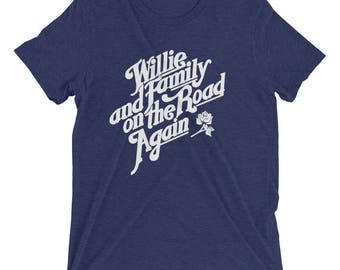 Willie Nelson and family On the road again T-Shirt! Bella Canvas soft shirt! Country, Austin, 80's, outlaw.