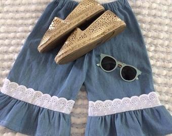 Girls Lace Detail Pants