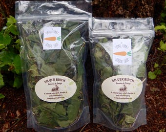 A natural treat for your Rabbits and Guinea pigs,Medicinal herbs,Birch leaves and twigs