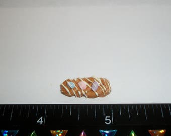 Dollhouse Miniature Handcrafted Braided Easter Egg Bread Dessert Cake Doll Food ~ 13/16 inches - 1439
