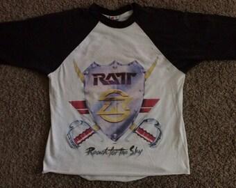 Vintage Ratt Reach for the Sky tour baseball t-shirt