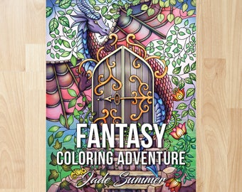 Fantasy Coloring Adventure by Jade Summer (Coloring Books, Coloring Pages, Adult Coloring Books, Adult Coloring Pages)