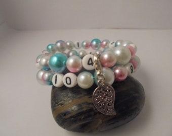 Nursing breast or bottle multicolor bracelet