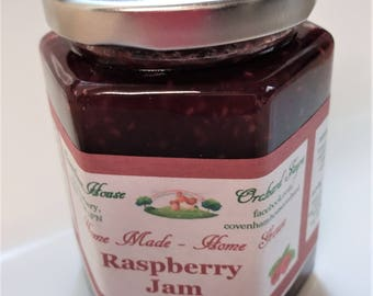 Home Made Raspberry Jam 300g jar FIXED UK SHIPPING buy as many jar as you like from our shop and pay just 3.80 delivery