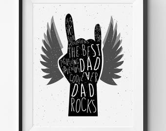 Fathers Day Printable, The Best Dad Ever Art Print, Fathers Day Print, Funny Fathers Day Gift, Fathers Day Print Gift, Best Dad Present